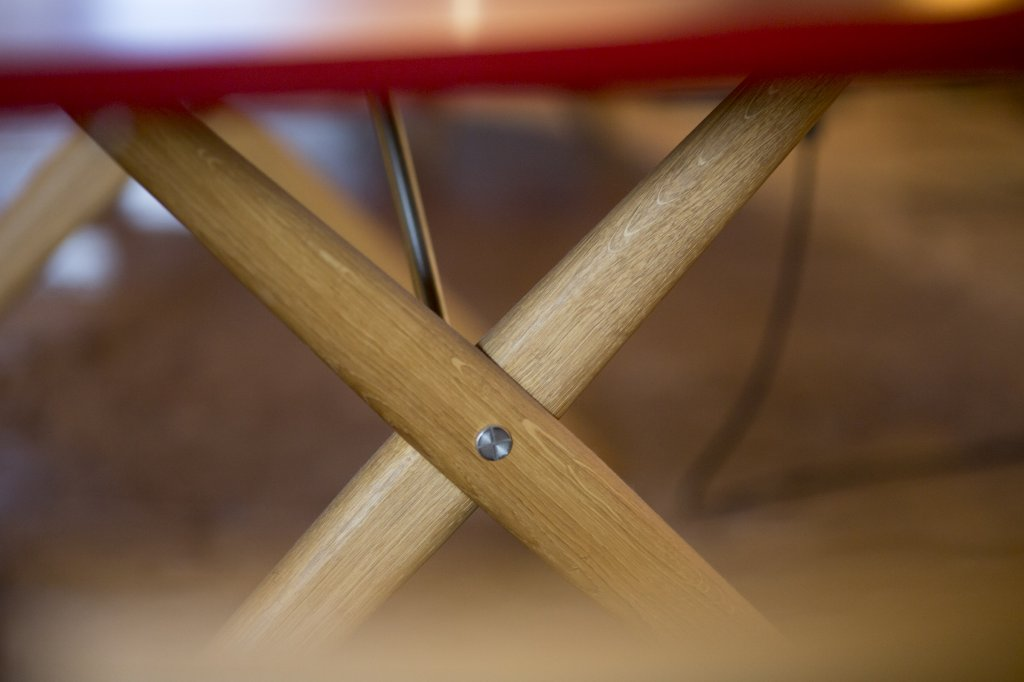 Cross-legged Table pp85, 1955, Oak, oiled