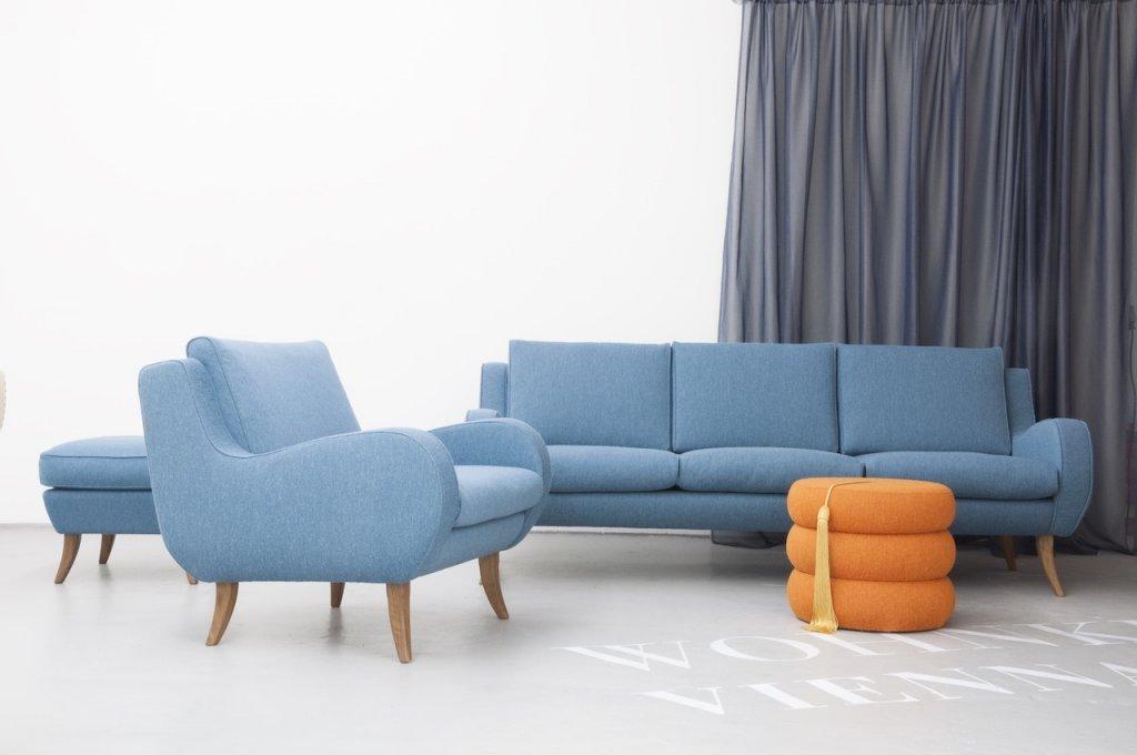 Ernst Schwadron, Sofa, Footstool + Armchair Dreamlake, 1946