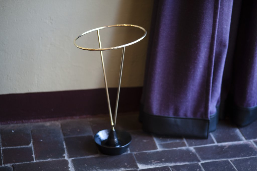 Umbrellastand 4293, Brass,painted Aluminium