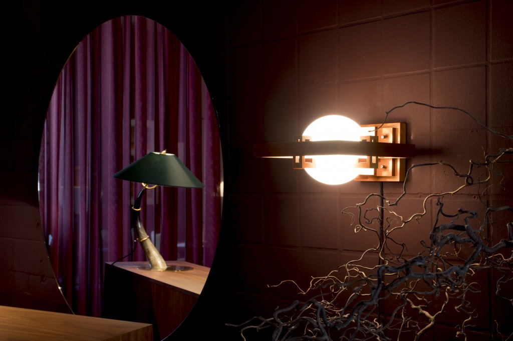 Table Lamp 7255 + Robi Wall Lamp by Frank Lloyd Wright
