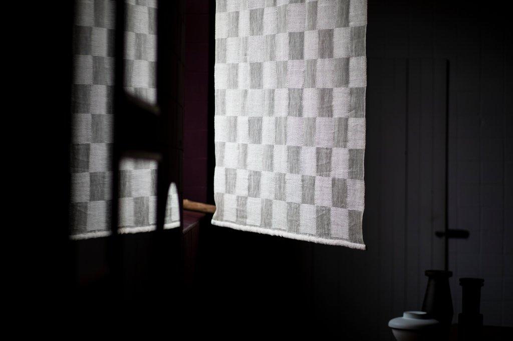 Hand-wooven Textile, 1960s, linen, cellophane