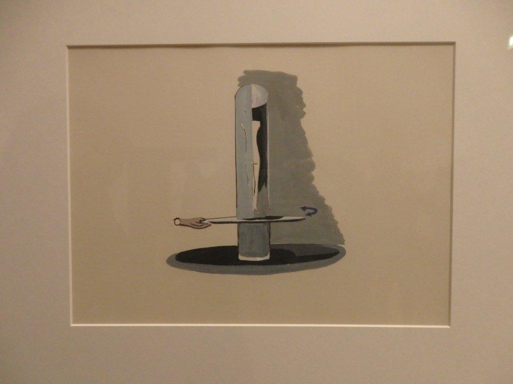 Installation Study for Alberto Giacometti, femme qui marche