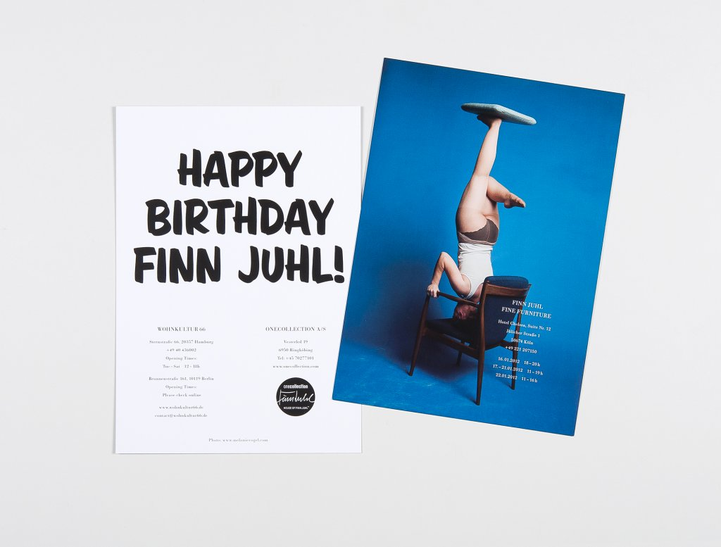 Invitation for Finn Juhl Exhibition at the Hotel Chelsea, Cologne, 2012 - Photo: Melanie Vogel - Artwork: Büro Ballmann Weber, Hamburg