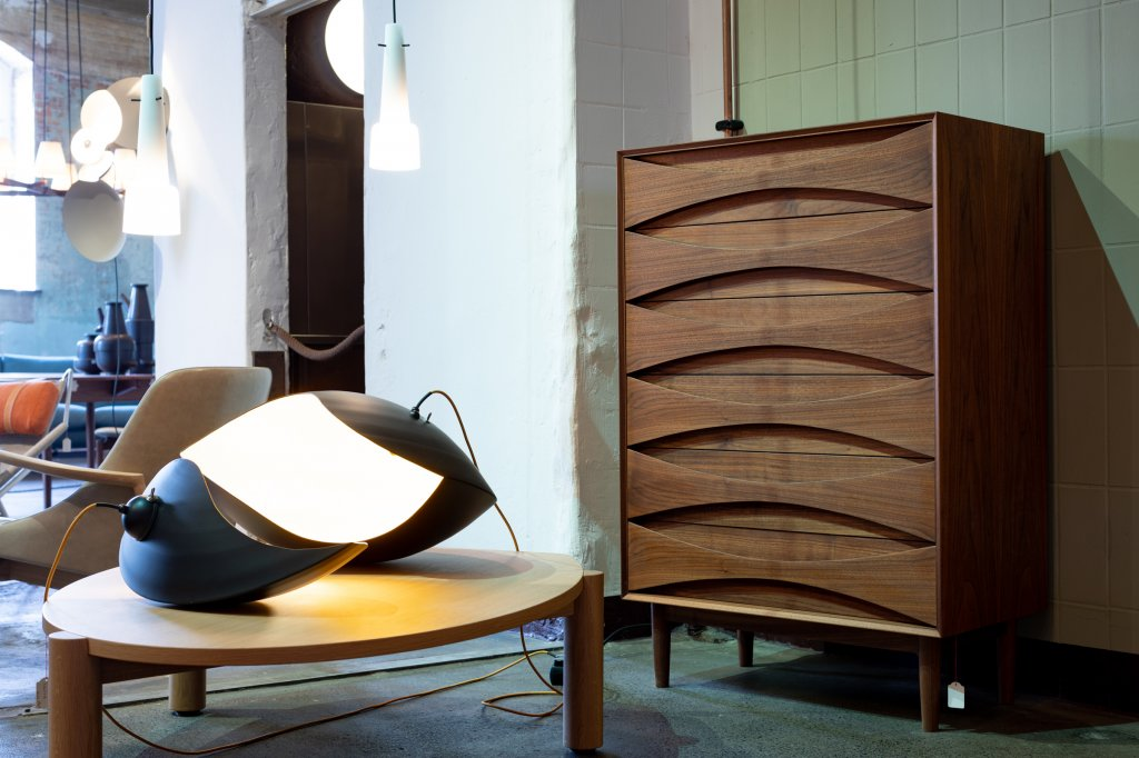 Chest Tallboy, 1959, W: 80cm D: 45cm H: 120cm, Walnut, also in oak available