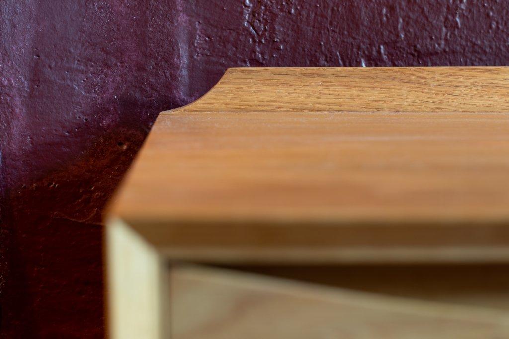Sideboard, 1959, W: 220cm, D: 50cm, H:78cm, Oak, also in walnut available