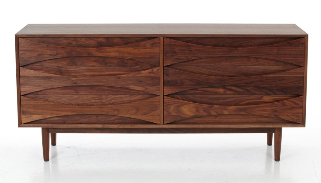 Sideboard, 1959, W: 160cm D: 50cm H: 80cm, Walnut, also in oak available - archive photo