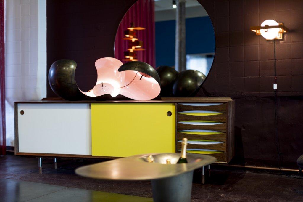 Sideboard Triennale, 2019, Arne Vodder, special edition for Wohnkultur66 - ST37 by Konrad Friedel - The Champagne drink table by Glen Baghurst