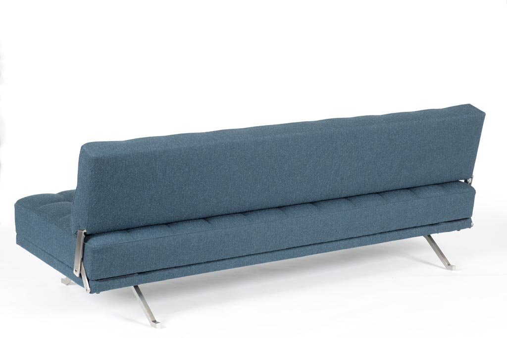 Constanze Bedsofa, 1961 by Johannes Spalt, Edition: Wittmann, stainless steel, fabric by Hanne Vedel; no. 4