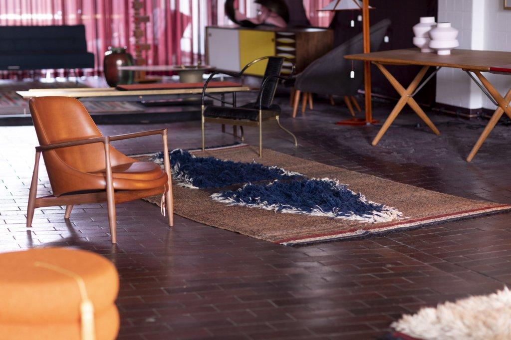 """Elizabeth Chair"", Ib Kofod-Larson + ""Kelim"", Lila Valadan"