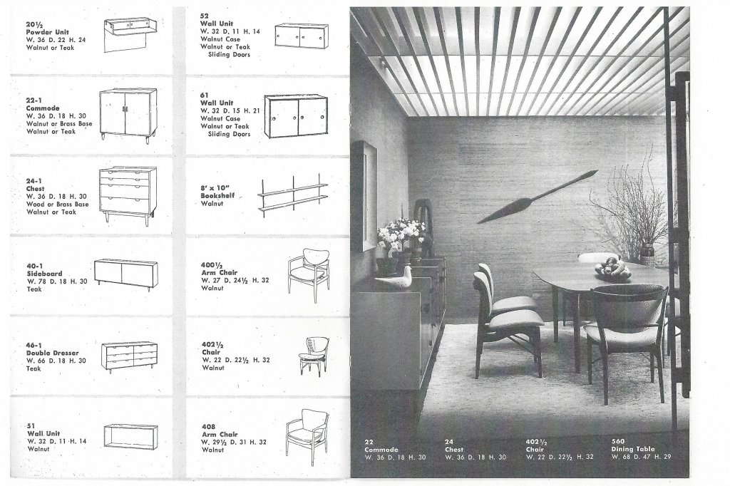 for Finn Juhl fans only: BAKER Finn Juhl 50's catalogue no. 1